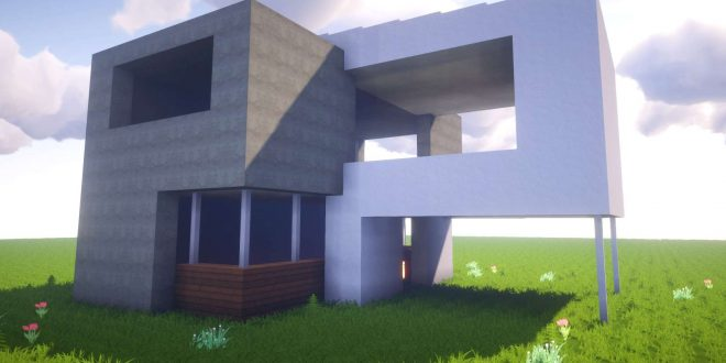 minecraft how to build a simple modern house best house tutorial
