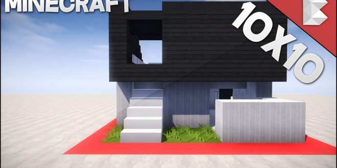 Minecraft 1010 Modern House Tutorial Minecraft House Design