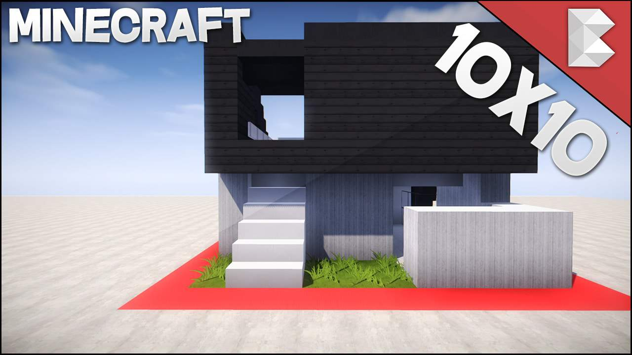 This video will teach you how to build a minecraft 10x10 modern house in minecraft easy to follow hope you guys liked this plot house tutorial and get