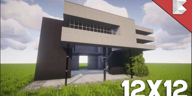 Minecraft 12x12 modern house tutorial easy to follow for Easy house plans to build