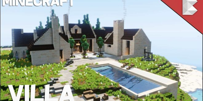 Cliff Side Modern Villa House With Pool Minecraft House Design