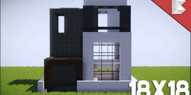 Minecraft: 18X18 Modern House Tutorial   Best Small Modern House U2013 Minecraft  House Design