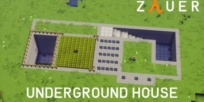 Modern underground house minecraft house design for Underground house design