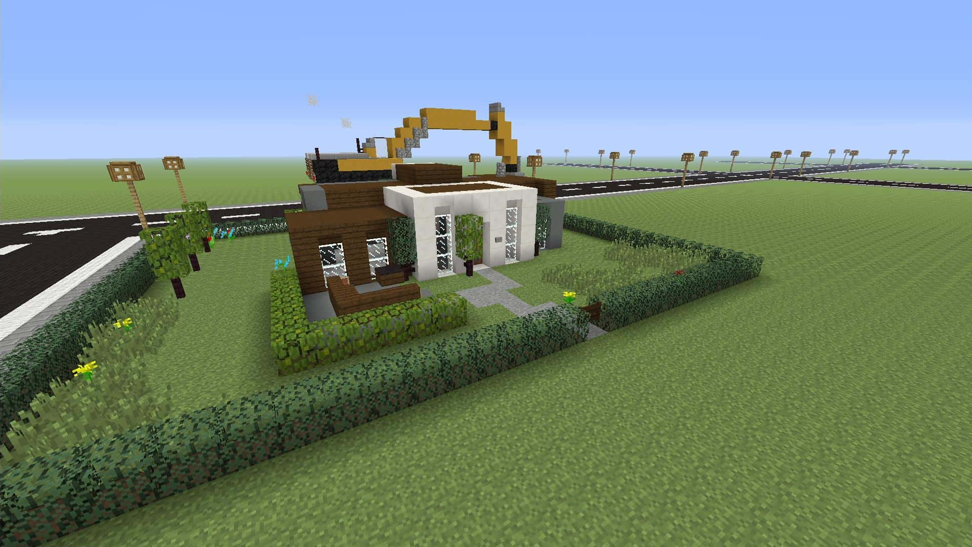 how to build a simple modern house in minecraft pe