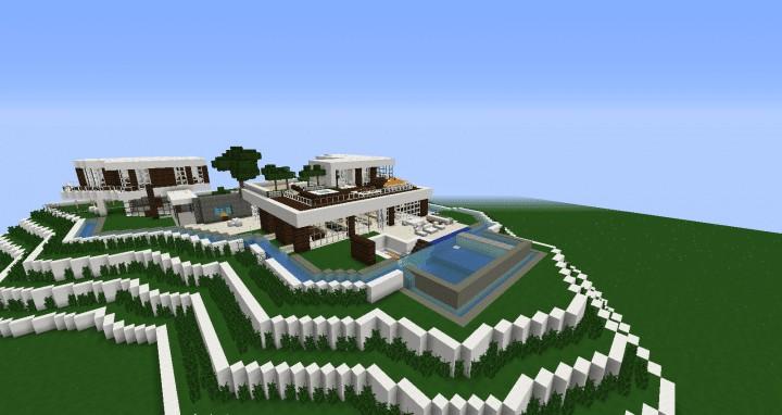 Modern Mansion In Beverley Hills Minecraft House Design Build 2