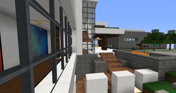 Modern Mansion In Beverley Hills Minecraft House Design Build 5