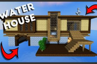 Minecraft: How To Build A Survival House On Water (Best House Tutorial)