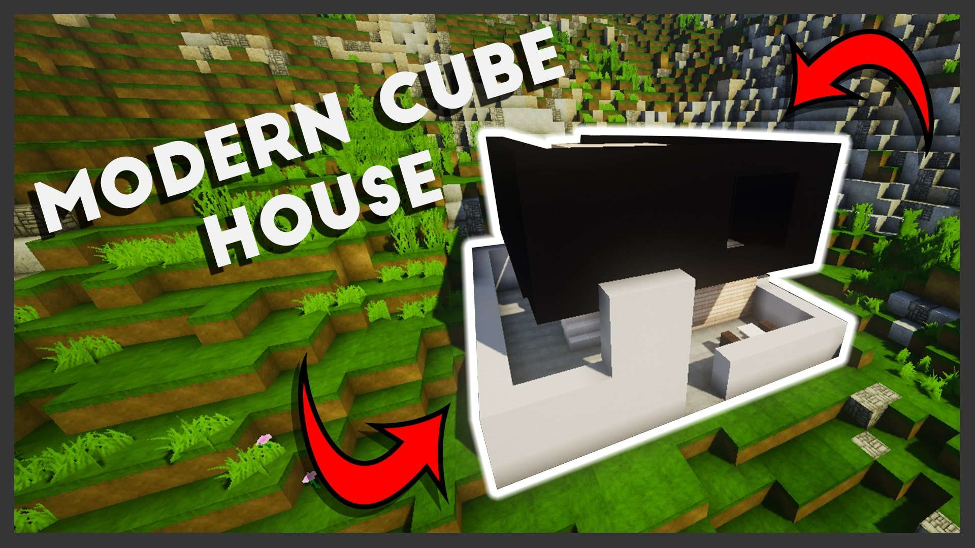 Minecraft: How To Make A Modern Cube House (Easy Tutorial) In The Following  Video I Will You House To Make A Modern 2 Story Cube Shaped House In  Minecraft ...