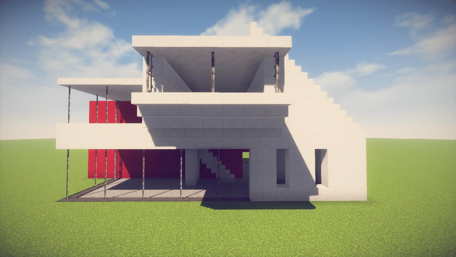 Minecraft simple easy modern house easy minecraft house for Simple but modern house design