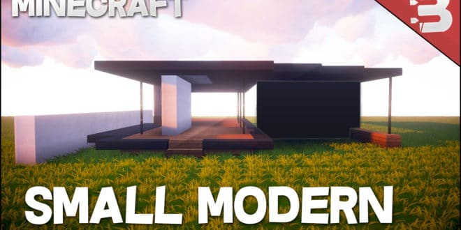 Minecraft How To Build A Small Modern House Tutorial Easy To