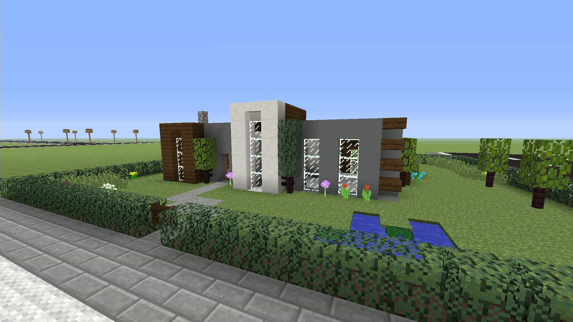 Simple modern house xbox one minecraft house design for Modern house xbox minecraft