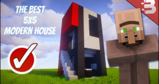 Minecraft house design all your house building ideas and for Modern house 5x5