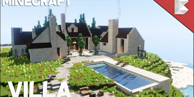 Cliff Side Modern Villa House With Pool Minecraft