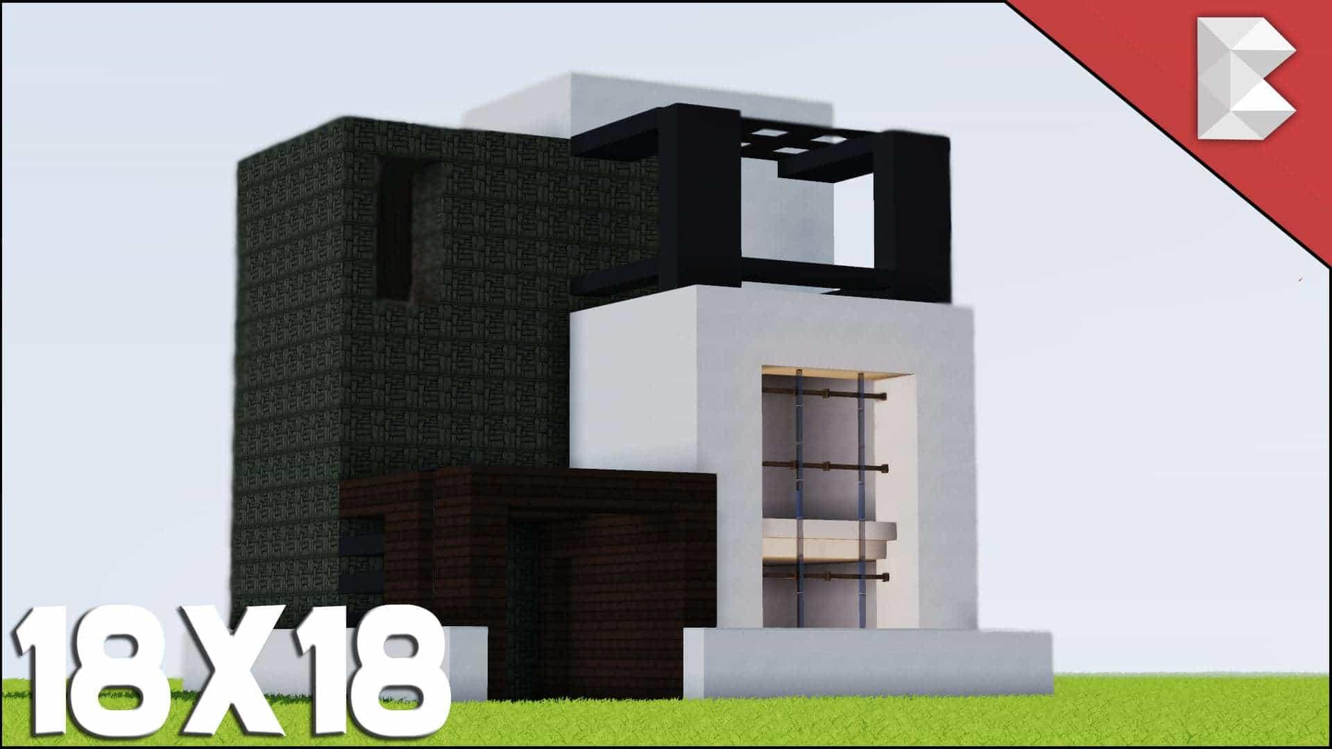 Minecraft: 1818 Modern House utorial Best Small Modern House ... - ^
