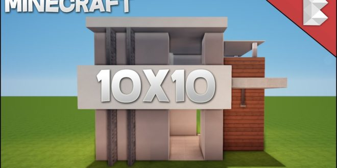 Minecraft 10x10 modern house tutorial easy to follow for 10x10 house design