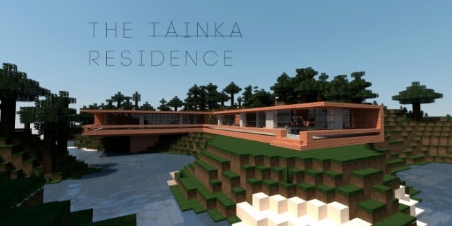 The Tainka Residence Minecraft house home download save water lake